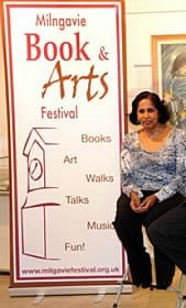 Leela Soma at a book festival