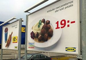 IKEA meatballs contaminated