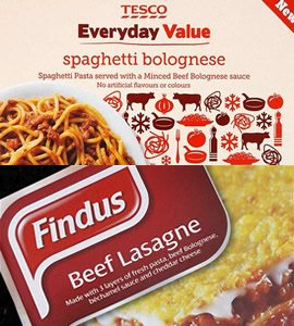 Tesco and Findus found 100% horsemeat