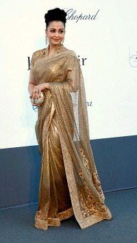 Aishwarya gold sari