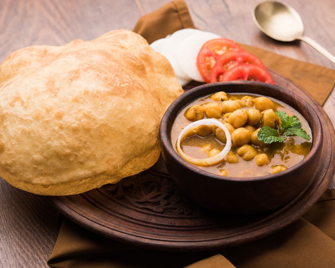 The Best of Indian Vegetarian Dishes - Channa Bhatura