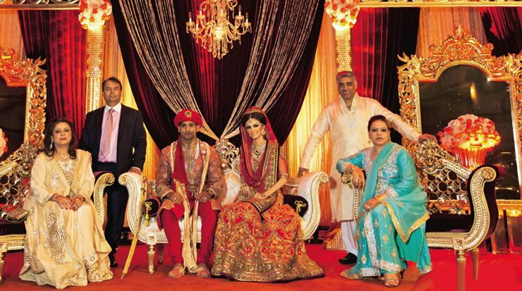 Happily married husband and wife: Amir Khan and Faryal Makhdoom at their wedding