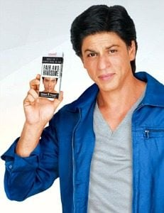 Shahrukh Khan with Fair and Handsome
