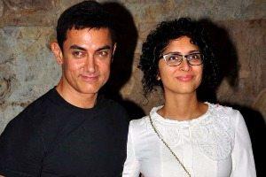 Aamir Khan with wife Kiran Rao