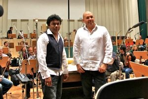 AR Rahman and Matt Dunkley