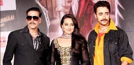 Akshay Kumar,Sonakshi Sinha and Imran Khan at film launch
