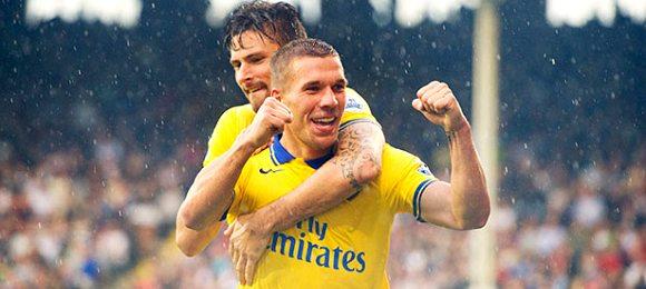 Arsenal vs Fulham lukas podolski