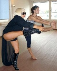 Lady Gaga doing Bikram Yoga