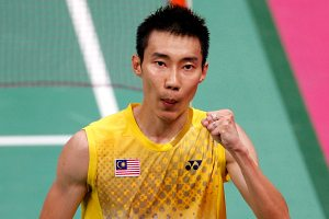 Lee Chong Wei of Malaysia playing for Mumbai Masters