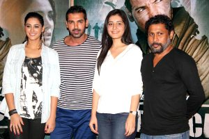 Madras Cafe Movie cast with director Shoojit Sircar at film launch