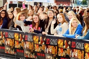 One Direction moive Premiere fans