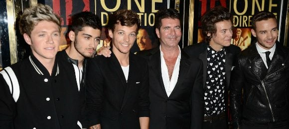 One Direction moive Premiere with Simon Cowell