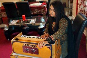 Prabjyot with Harmonium
