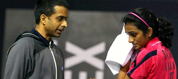 Pullela Gopichand with PV Sindhu