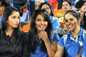 Sania Mirza brand ambassador of IBL with ibl player Saina Nehwal