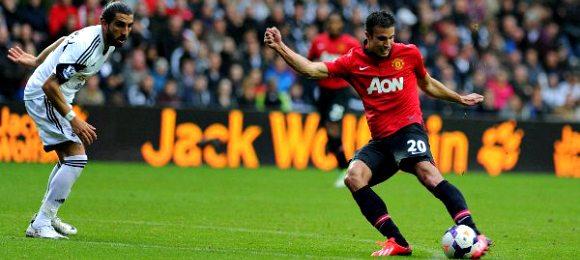Swansea Vs Man Utd Robin-Van-Persie