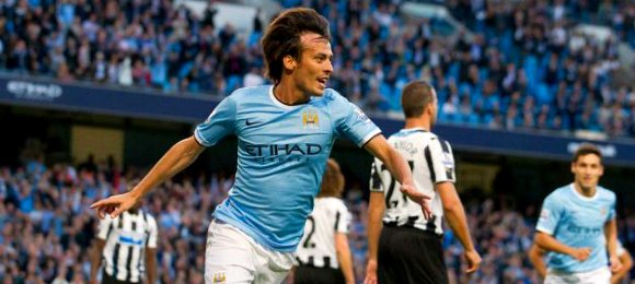 manchester-city vs newcastle-united David Silva