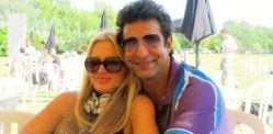 Cricketer Wasim Akram marries Shaniera Thompson