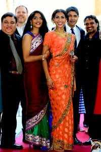 Director Amit Gupta with cast at jadoo premiere