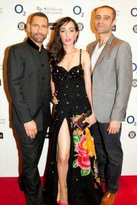 Feryna Wazheir Red Carpet with  Rez Kempton and Cary Rajinder Sawhney
