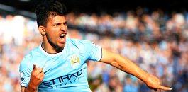 Manchester City vs Manchester United Sergio Aguero player