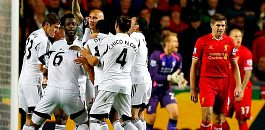 Swansea vs Liverpool Gerrard