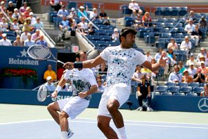 US Open Leander Paes and Radek Stepanek match