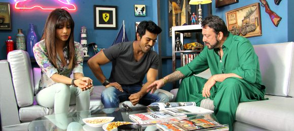 Zanjeer Movie Still Sanjay Dutt Priyanka Chopra and Ram Charan