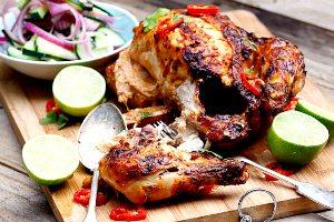 ભારતીય મસાલાવાળી રોસ્ટ ચિકન