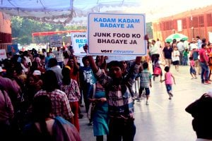 junk-food protest India