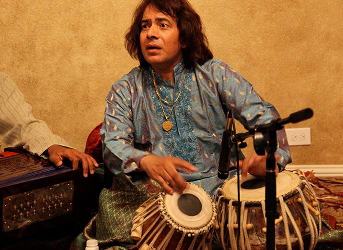 Tabla player Ustad Tariq Khan