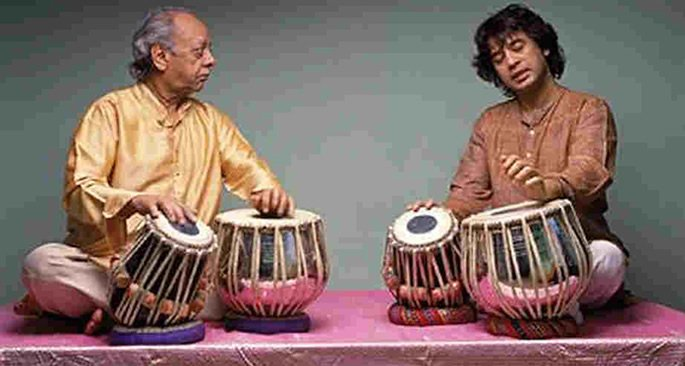 Zakir Hussain and Alla Rakha