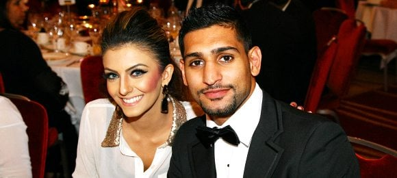 Amir Khan with Faryal