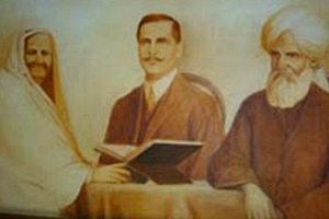 Allama Iqbal with parents