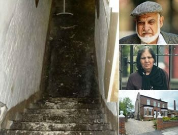 Ilyas Ashar and his wife kept the slave in the cellar