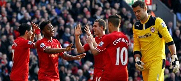 Premier League Liverpool 3 Cardiff 1