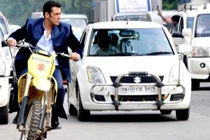 Jai Ho film still riding motorbike
