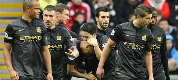Premier League Swansea City 2 Manchester City 3