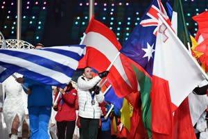 Sochi Winter Olympics Closing Ceremony Flags