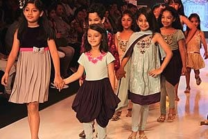 Indian Kid's Fashion Week Catwalk