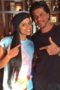 Lily Singh at SRKs House