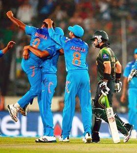 Misra celebrates as India smashed wickets