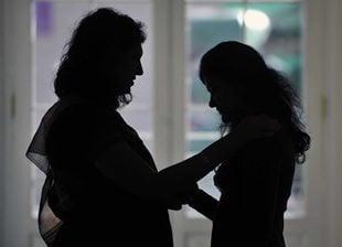 Mother convincing daughter