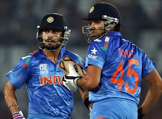 Kholi and Rohit Sharma