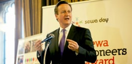 David Cameron speaking at the Sewa Pioneers Awards 2014