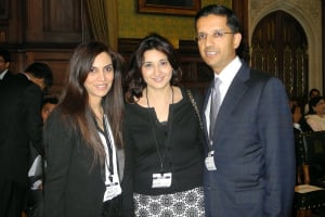 Mona Remtulla and Reena Ranger, co-founders of the Women Empowered network with Sewa Day Ambassador Dixit Joshi