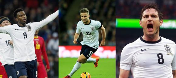 Sturridge, Shaw & Lampard