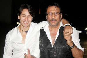 Jackie and Tiger Shroff