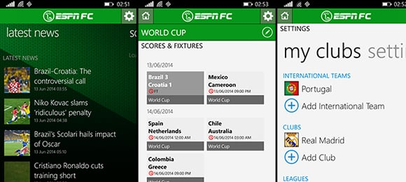 ESPN Football & World Cup app