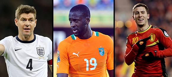 Gerrard, Toure & Hazard